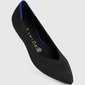 Rothy's The Point Shoe, Black, 6.5, NWT
